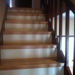 Habillage d'escalier bois sol stratifié